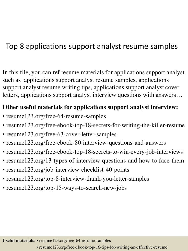 topapplicationssupportanalystresumesamples lva app thumbnail jpg cb