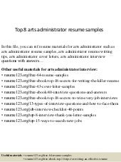 Cover Letter Arts Administration
