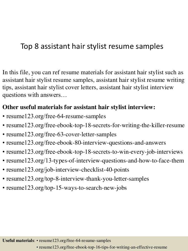 Hair Stylist Resumes  Top88assistanthairstylistresumesamples8850788503888850lva88app688988thumbnail88jpgcbu003d88883693038888  82
