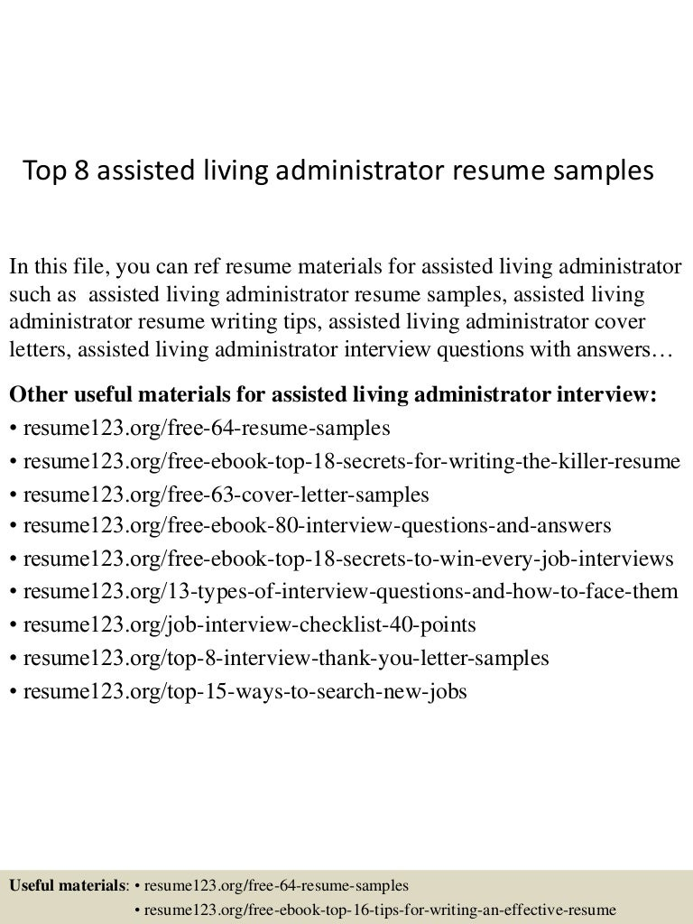 Cover Letters For Assisted Living Coordinator