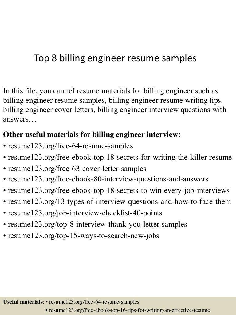 top8billingengineerresumesamples 150614084359 lva1 app6892 thumbnail 4jpgcb1434271483 - Pipeline Engineer Sample Resume