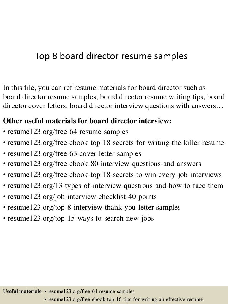 Resume Sample Resume Format Jollibee sample resume word samples and help ambulance operator invitation templates top8boarddirectorresumesamples 150511075711 lva1 app6892 thumbnail 4 operator