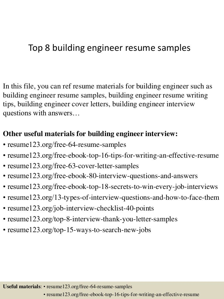 top8buildingengineerresumesamples 150402024612 conversion gate01 thumbnail 4jpgcb1427960815