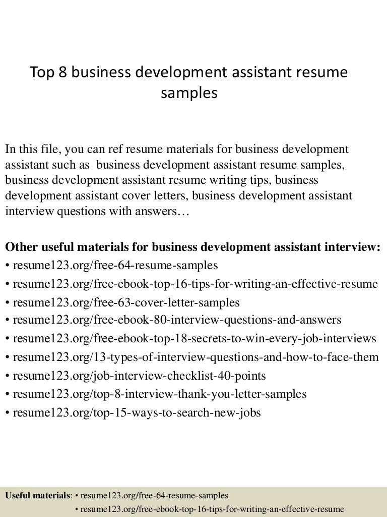 topbusinessdevelopmentassistantresumesamples conversion gate thumbnail jpg cb