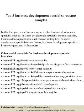 Cv Template Business Development Manager