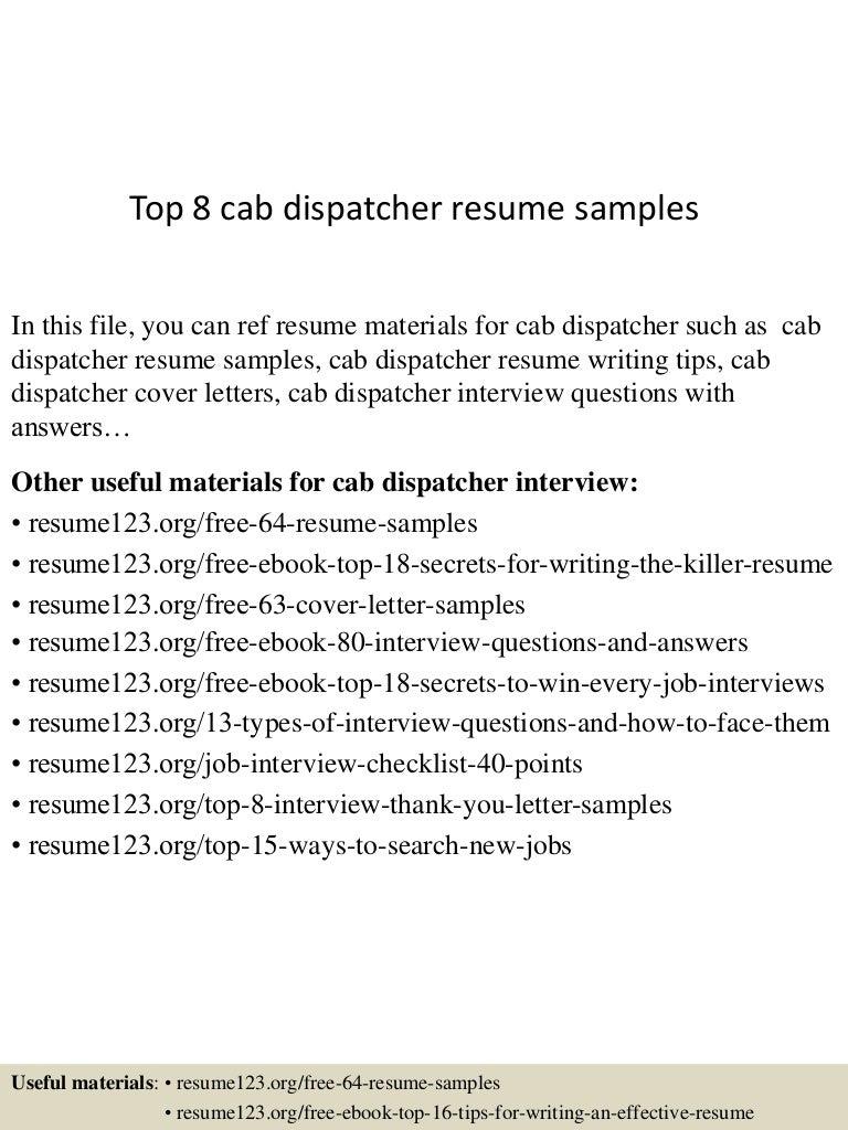 dispatcher resume objective objective - Public Dispatcher Cover Letter