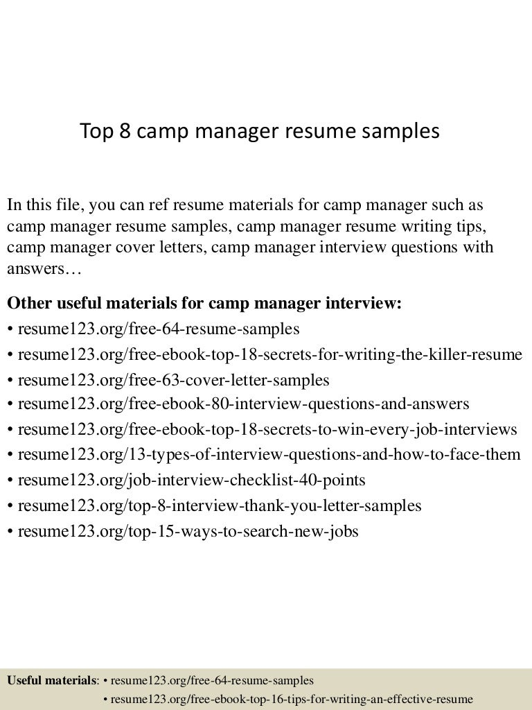 cover letter camp counselor