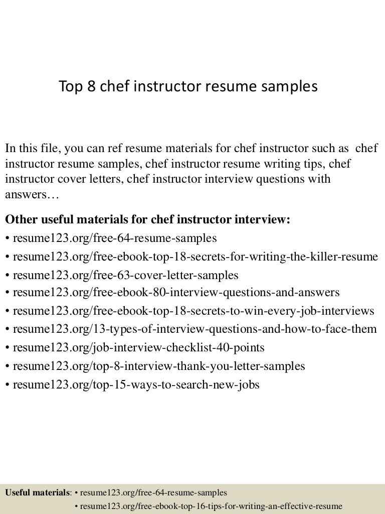 150601104851 lva1 app6892 thumbnail 4 top 8 chef instructor resume samples 48835265 chef instructor cover letter chef instructor cover letter - Cover Letters For Chefs