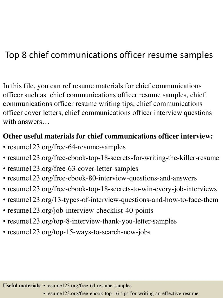 top8chiefcommunicationsofficerresumesamples-150515024604-lva1-app6892-thumbnail-4.jpg?cb=1431658013