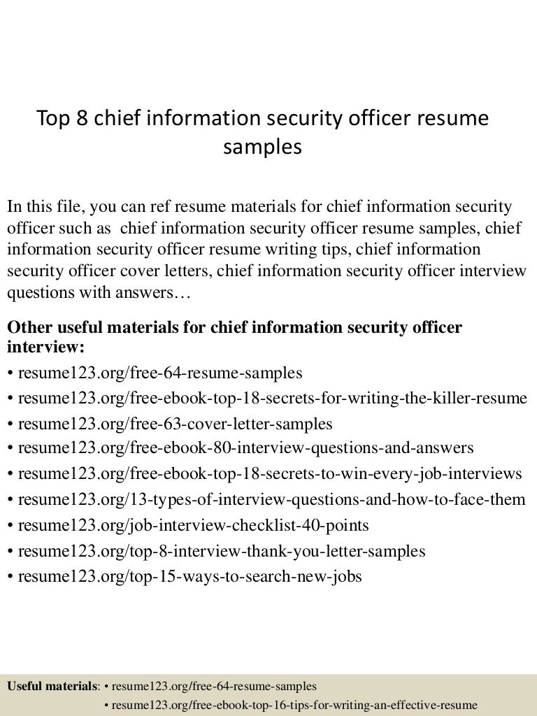 SlideShare  Security Jobs Resume