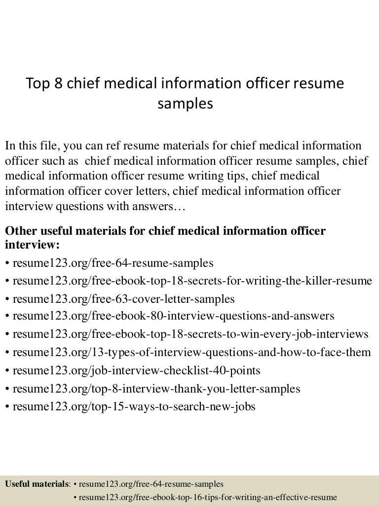 medical officer resume