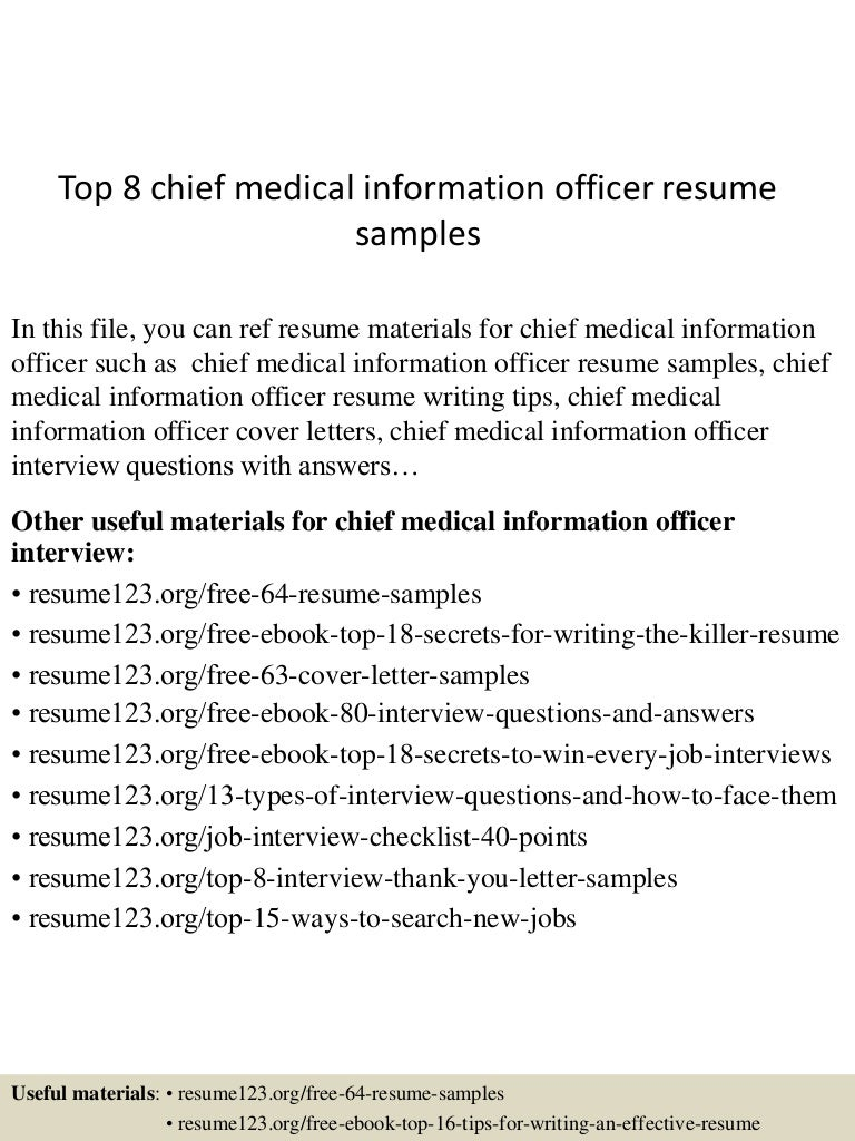top8chiefmedicalinformationofficerresumesamples150517102937lva1app6892thumbnail4jpgcb 1431858621 – Chief Medical Officer Job Description