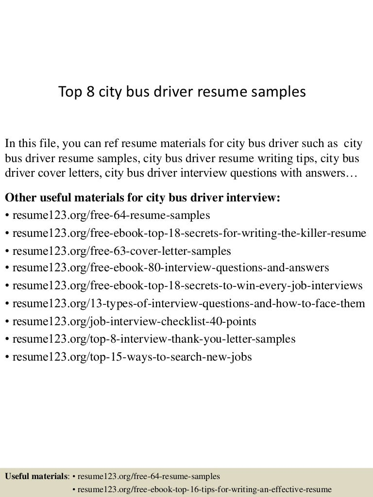 100+ [ Sample Resume Of Bus Driver ] | 11 Flatbed Truck Driver ...