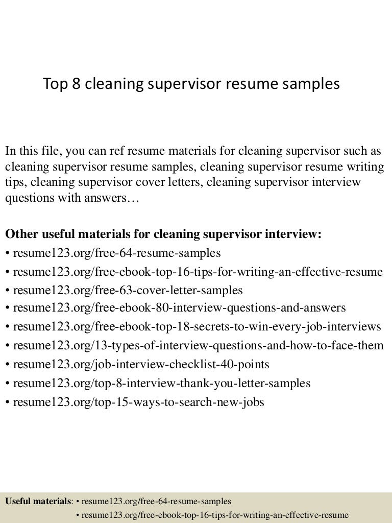 Top8cleaningsupervisorresumesamples 150402095544 Conversion Gate01 Thumbnail 4cb1427968559