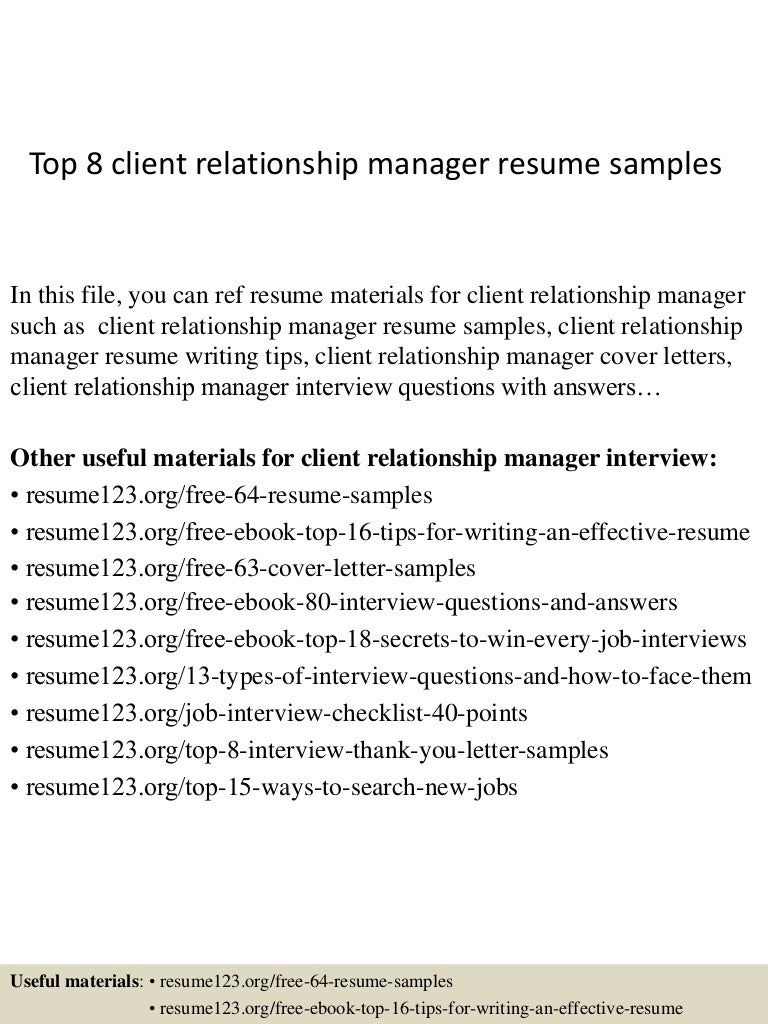 cover letter engineering director government property top8clientrelationshipmanagerresumesamples 150331212602 conversion gate01 thumbnail 4 cover letter - Plastic Engineer Sample Resume