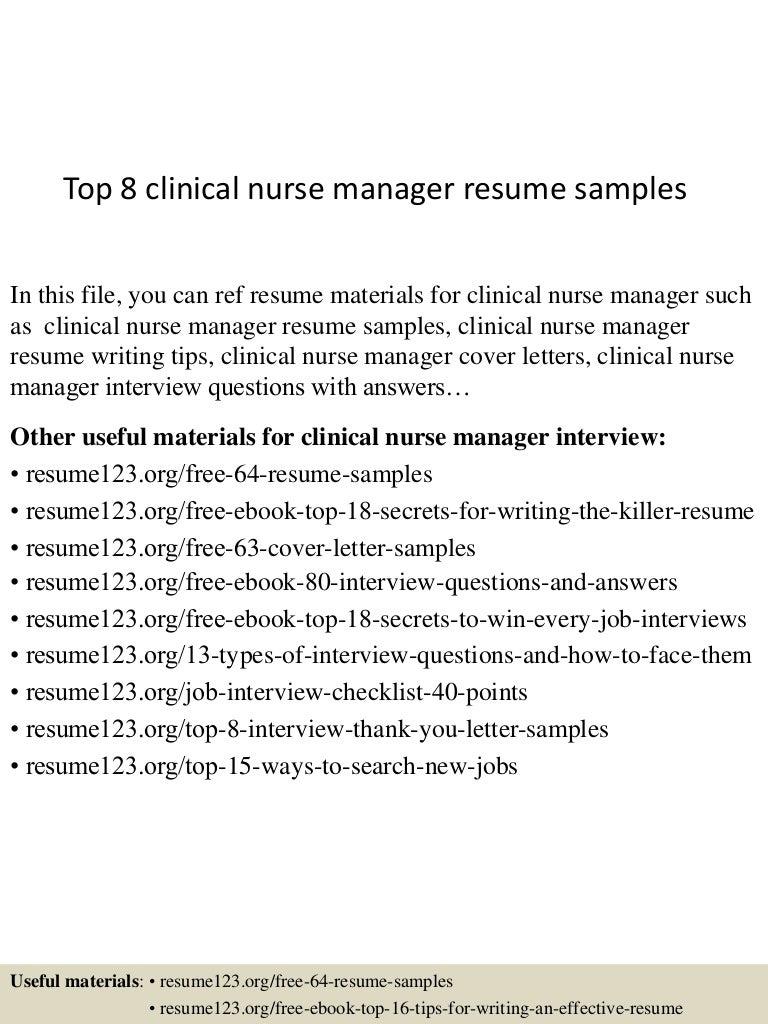 SlideShare  Nurse Manager Resume Examples