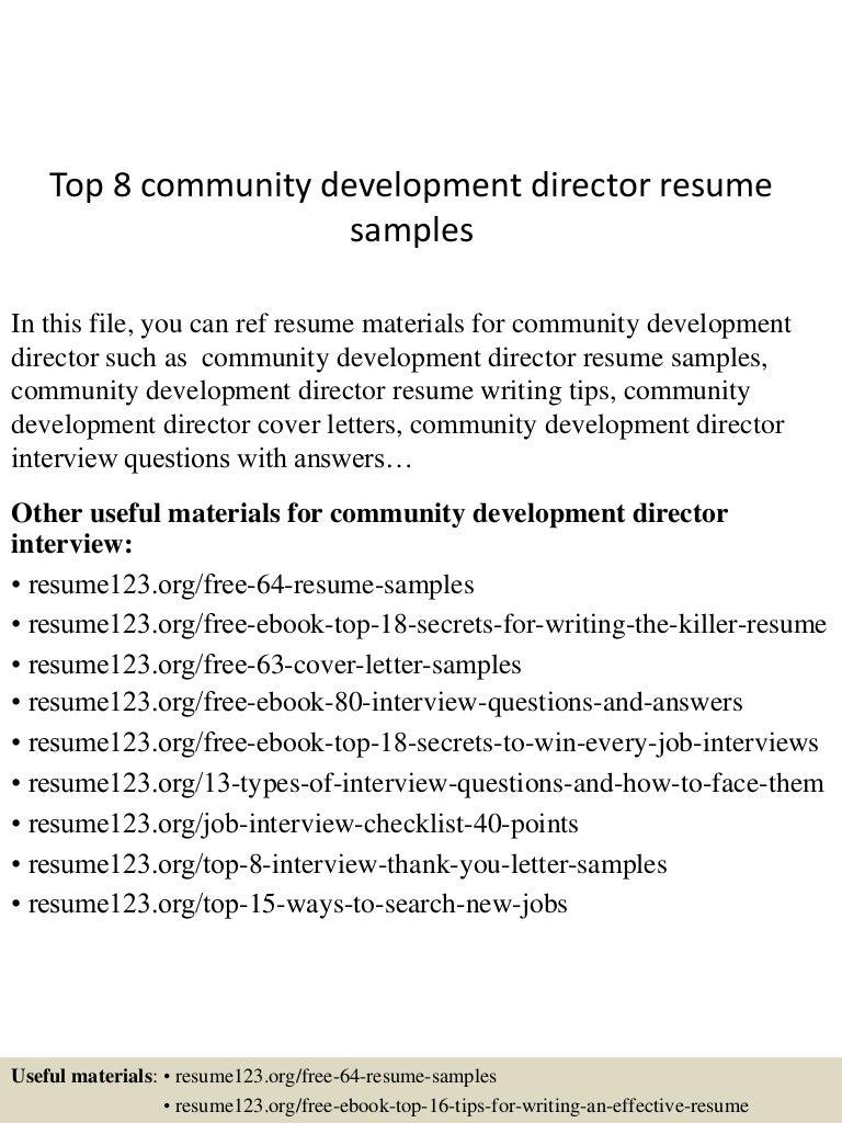 topcommunitydevelopmentdirectorresumesamples lva app thumbnail jpg cb