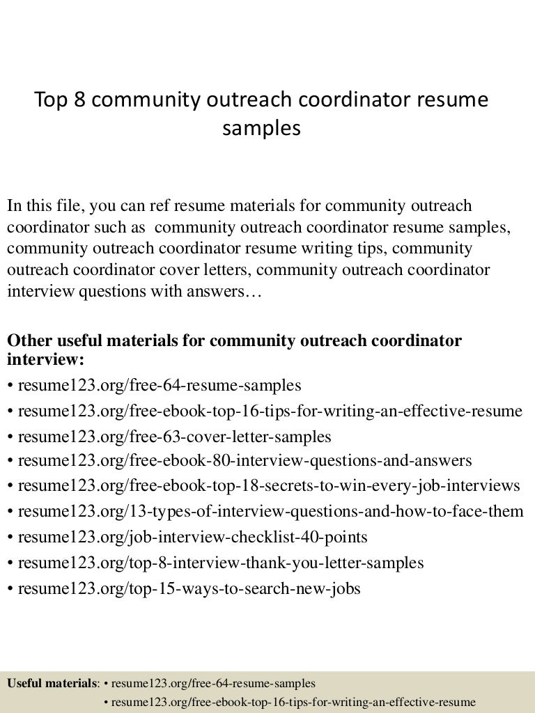 community psychiatric nurse cover letter pest control worker top8communityoutreachcoordinatorresumesamples 150410081254 conversion gate01 thumbnail 4