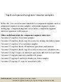 resume component engineer joydeep