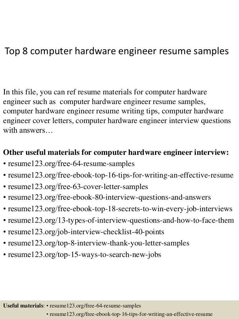 Hardware engineer cover letter