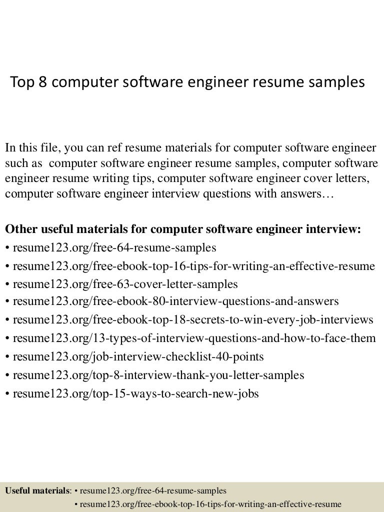 top8computersoftwareengineerresumesamples150407034519conversiongate01thumbnail4jpgcb 1428396372 – Software Engineer Resume Objective
