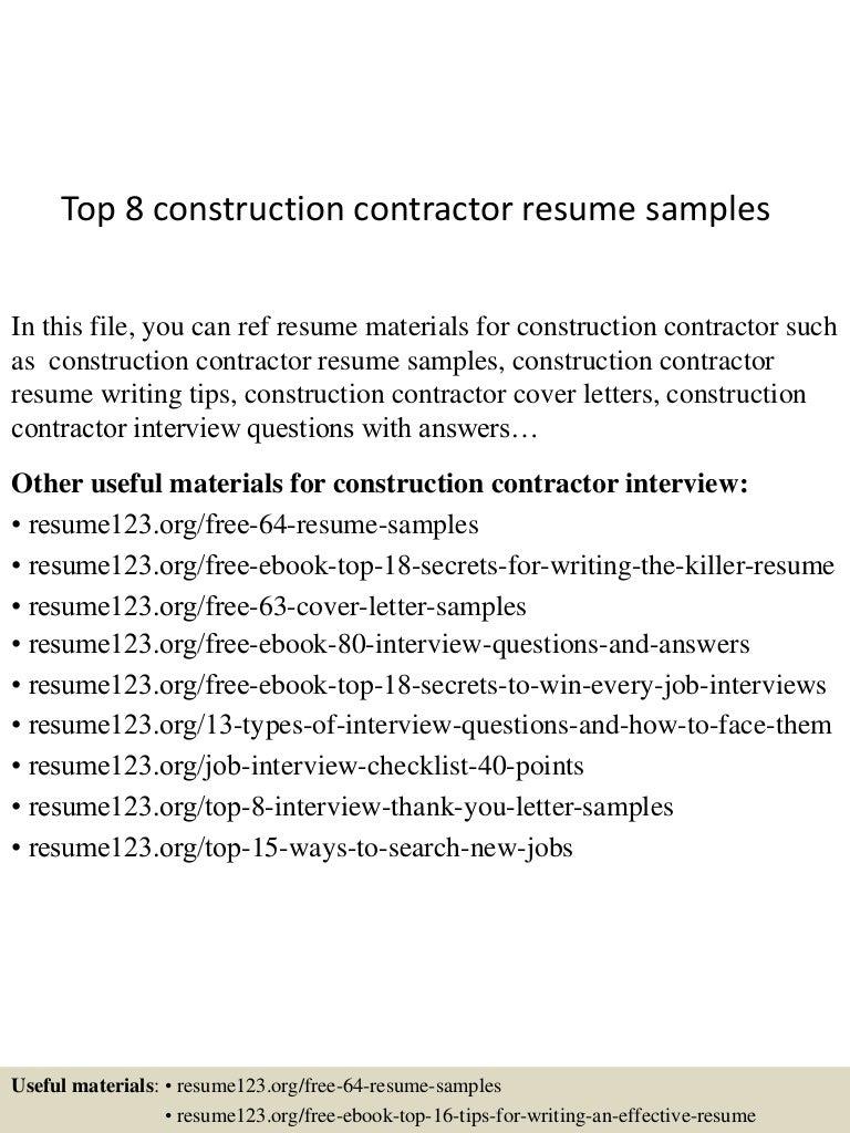 top8constructioncontractorresumesamples150529083040lva1app6891thumbnail4jpgcb1432888281