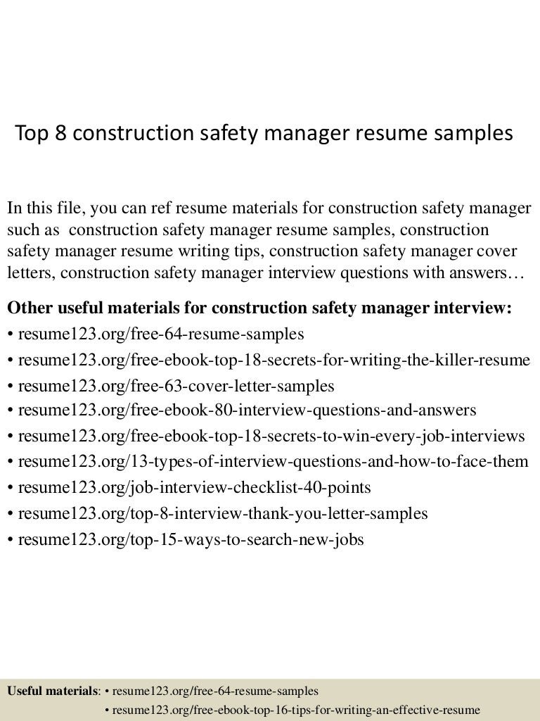 construction safety manager resume resume samples for safety manager safety manager resume samples safety manager resume