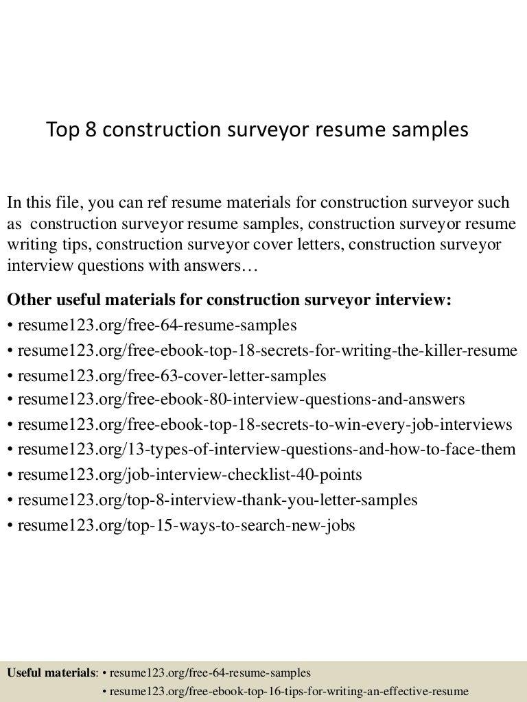Sample Land Surveyor Resume