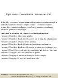 Contract Coordinator Resume