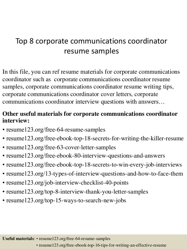 topcorporatecommunicationscoordinatorresumesamples lva app thumbnail jpg cb