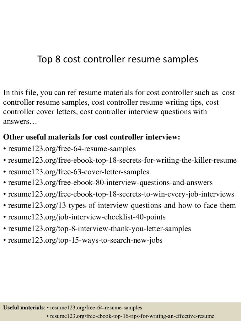 ceo resume example page 4. 13 useful materials for cost controller ...