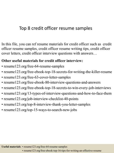 Sample Application Letter For The Post Of Digital Credit Officer on