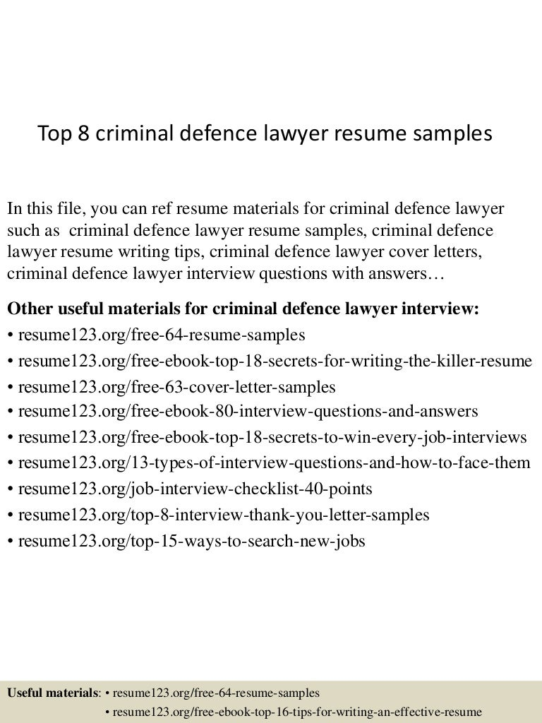 criminal defense attorney resume - Suzen.rabionetassociats.com