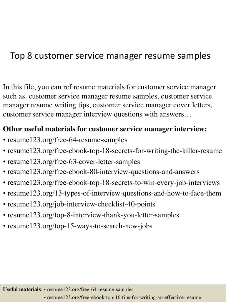 top8customerservicemanagerresumesamples 150424214846 conversion gate02 thumbnail 4jpgcb1429930174