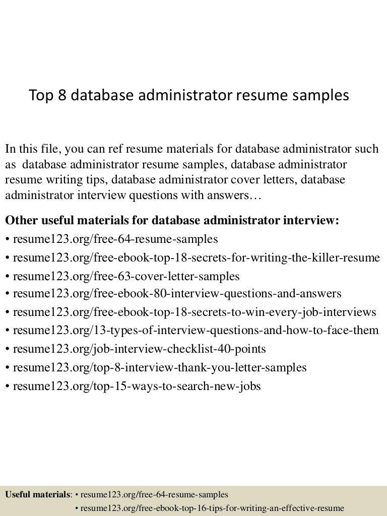 engineer resume oracle experience resume sample 7 database ...