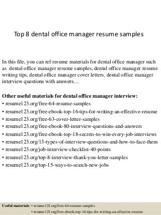 Dental Office Manager | LinkedIn