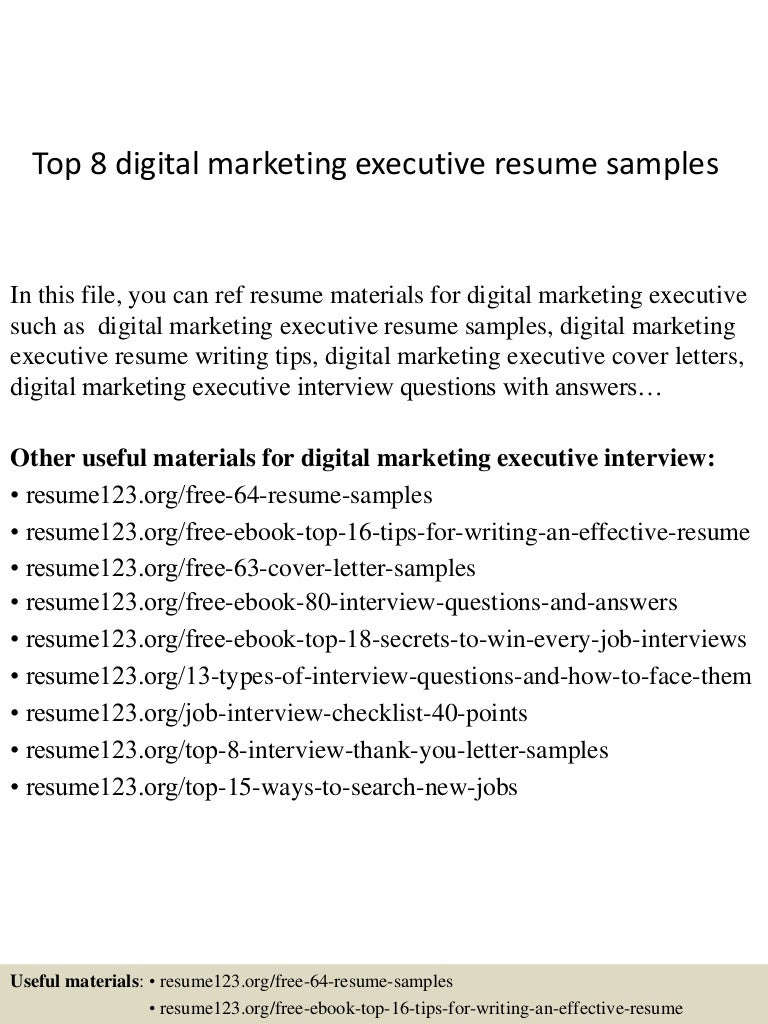 top8digitalmarketingexecutiveresumesamples 150407034531 conversion gate01 thumbnail 4jpgcb1428396377