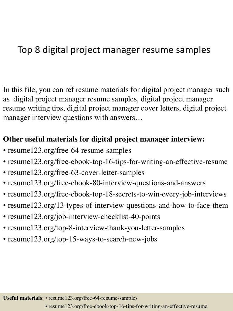 SlideShare  Digital Project Manager Resume