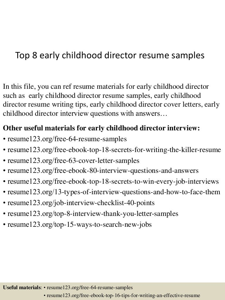 SlideShare  Early Childhood Resume