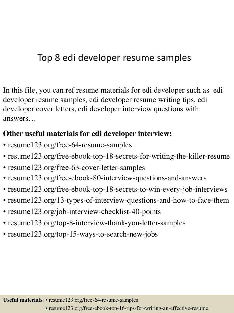 resume Edi Experience Resume top8edideveloperresumesamples 150723074009 lva1 app6892 thumbnail 4 jpgcb1437637257