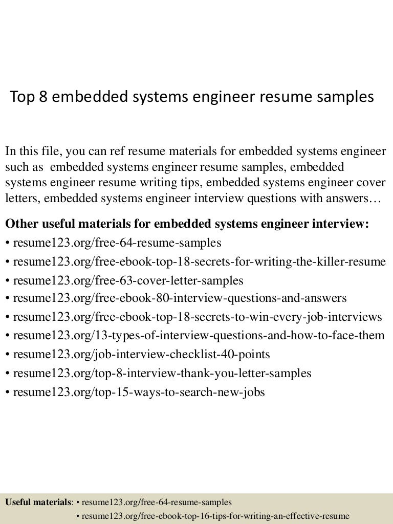 resume Computer System Validation Resume information systems engineer sample resume write a narrative essay top8embeddedsystemsengineerresumesamples 150517030511 lva1 app6891 thumbnail 4jpgcb1431831954 computer sample