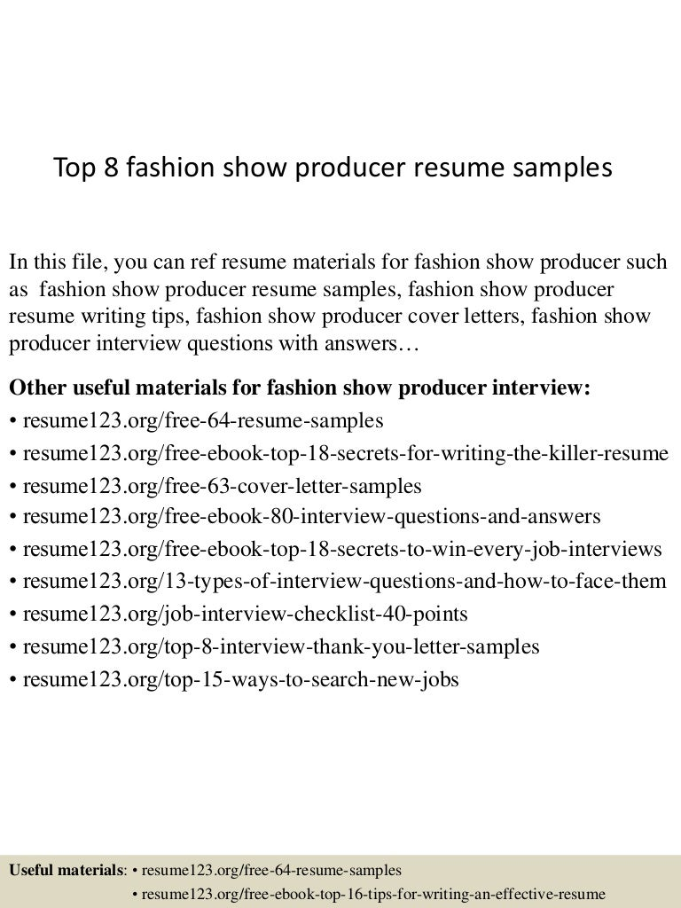 show producer cover letter 100 essay against abortion essays top8fashionshowproducerresumesamples 150603150327 lva1 app6892 thumbnail 4 - Web Producer Resume