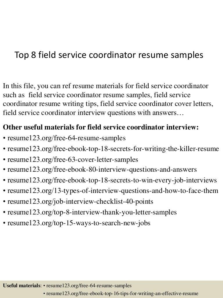 topfieldservicecoordinatorresumesamples lva app thumbnail jpg cb