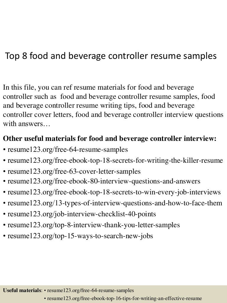 Food And Beverage Controller Cover Letter reality programs essay