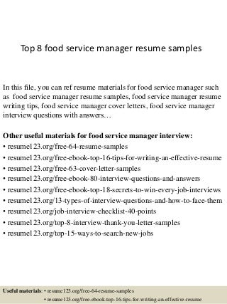 Food Service ManagerLinkedIn