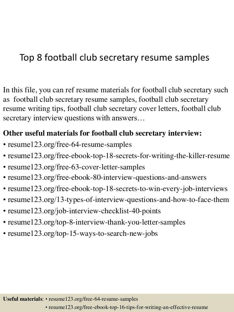 Top8footballclubsecretaryresumesamples 150623133616 lva1 app6891 thumbnail 4gcb1435066622 madrichimfo Images