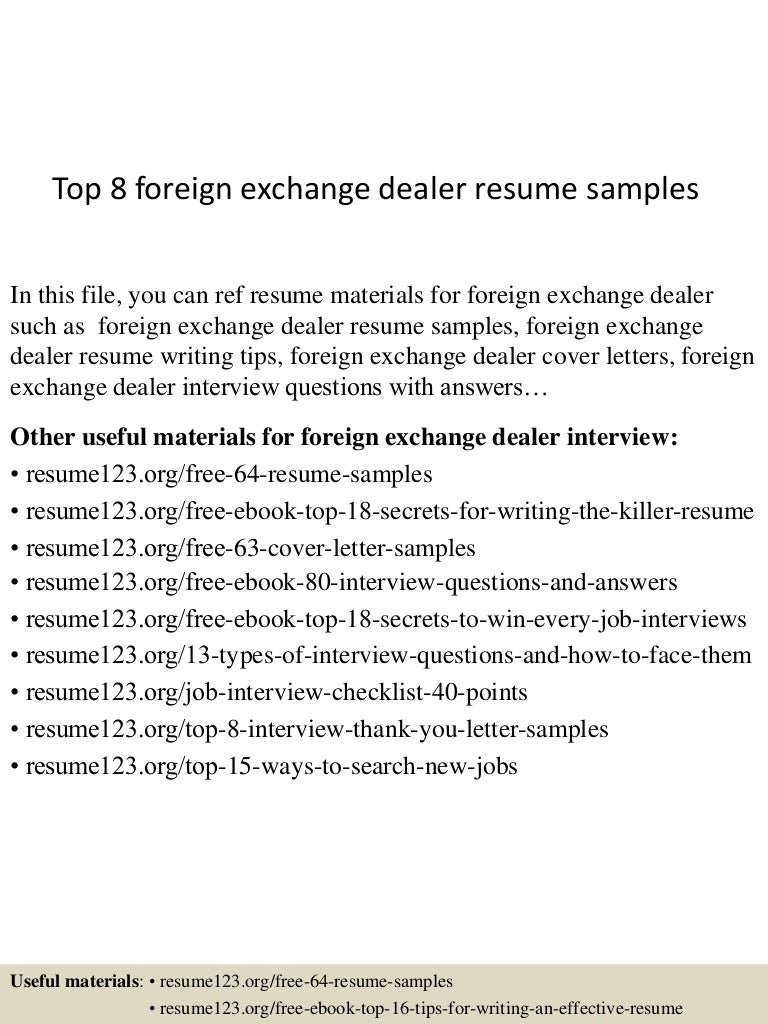Trainee fx trader cover letter