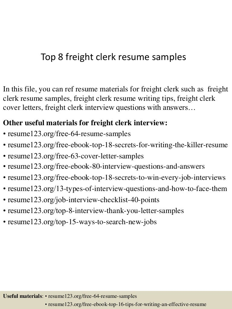 import export clerk resume vosvetenet top8freightclerkresumesamples 150517013004 lva1 app6891 thumbnail 4 import export clerk resume audio dsp engineer - Dsp Engineer Sample Resume