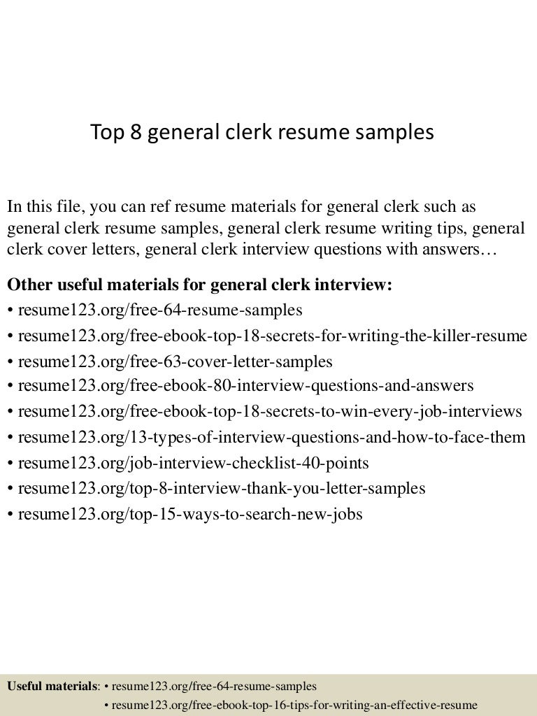 100+ [ Office Clerk Cover Letter Samples ] | 100 Office Clerk ...