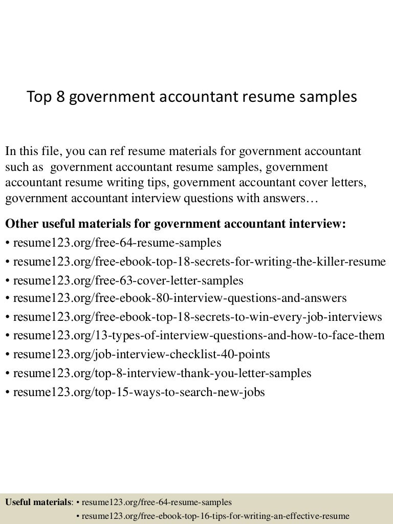 government accountant sample resume fantastic cover letter thumbnail 4jpg cb 1432734774 top8governmentaccountantresumesamples 150527135211 lva1 app6892 thumbnail 4 top 8 government accountant resume samples